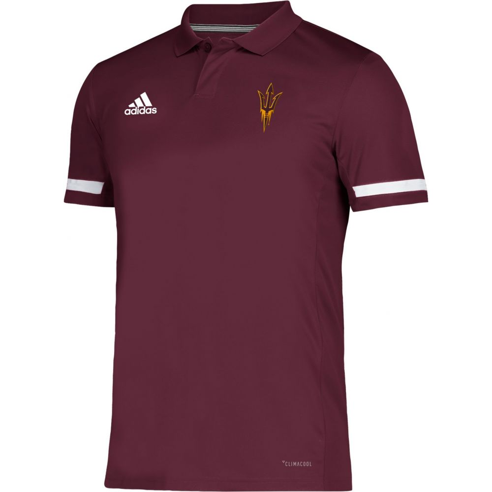 アディダス adidas メンズ アメリカンフットボール トップス【Arizona State Sun Devils Maroon Team 19 Sideline Football Polo】