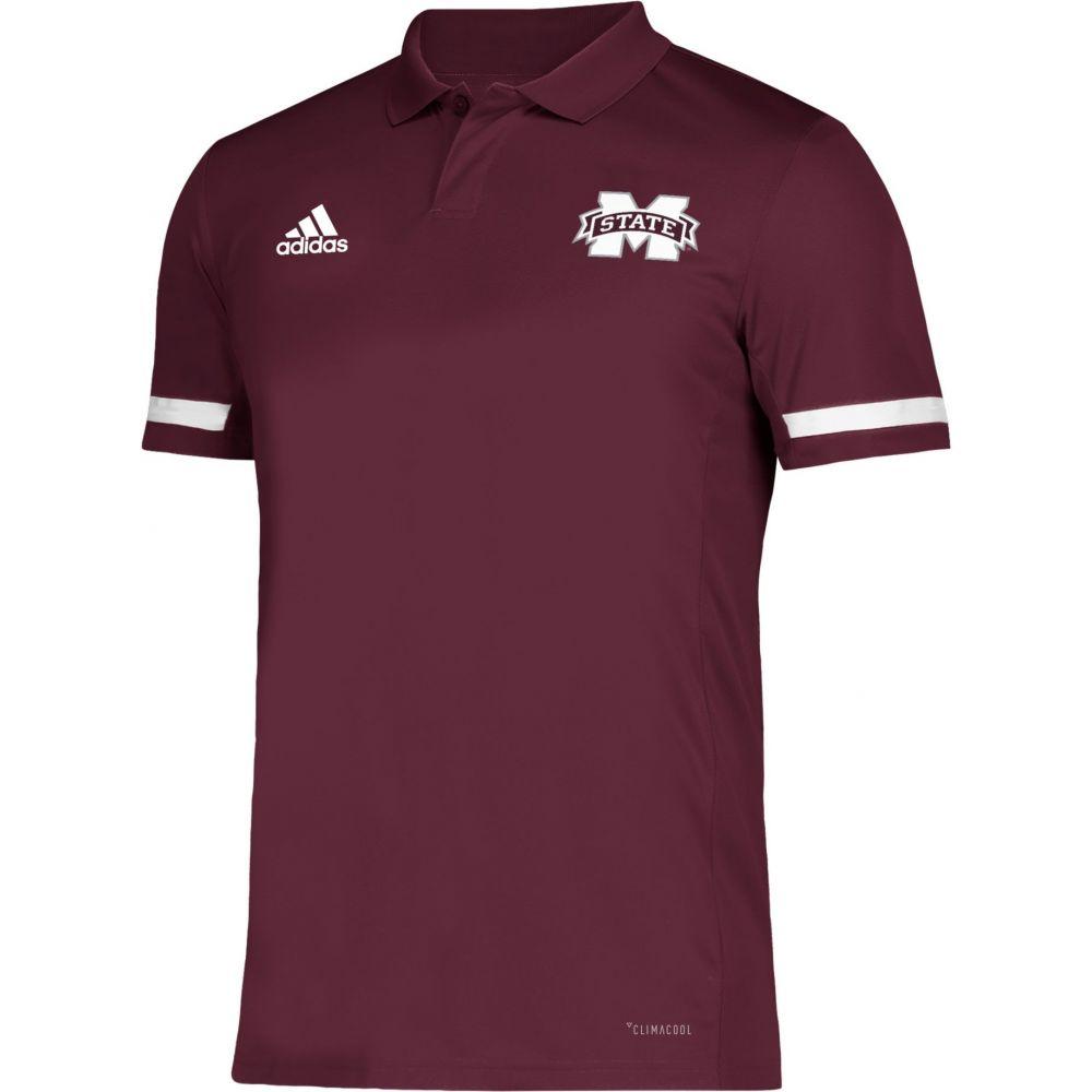 アディダス adidas メンズ アメリカンフットボール トップス【Mississippi State Bulldogs Maroon Team 19 Sideline Football Polo】