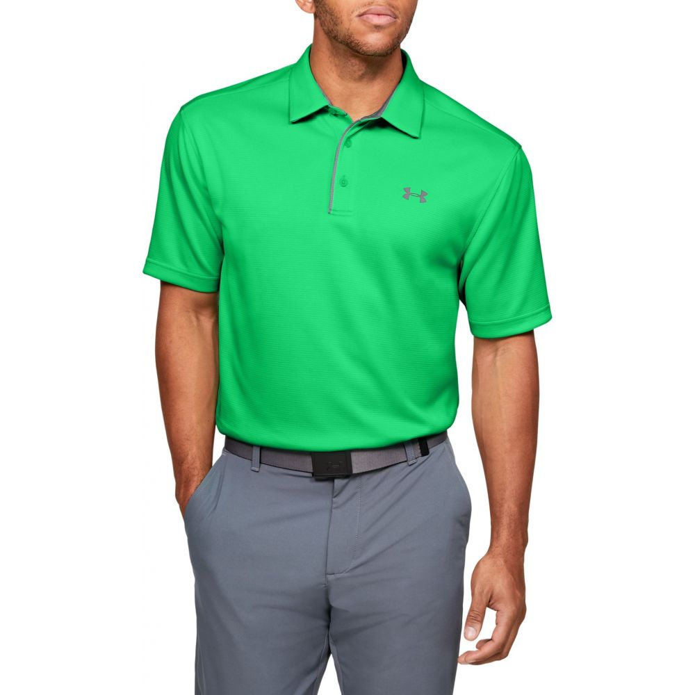 アンダーアーマー Under Armour メンズ ゴルフ トップス【Tech Golf Polo】Vapor Green