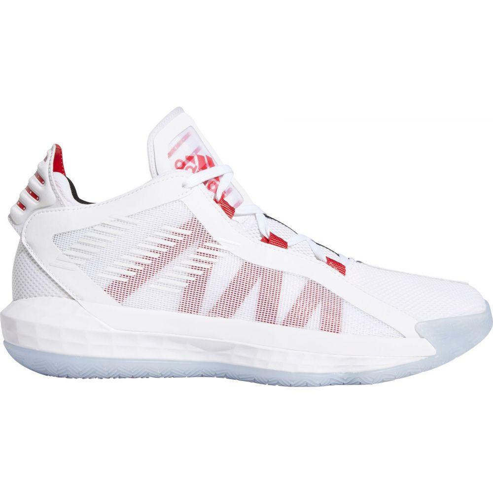 アディダス adidas メンズ バスケットボール シューズ・靴【Dame 6 Basketball Shoes】White/Scarlet/Blk