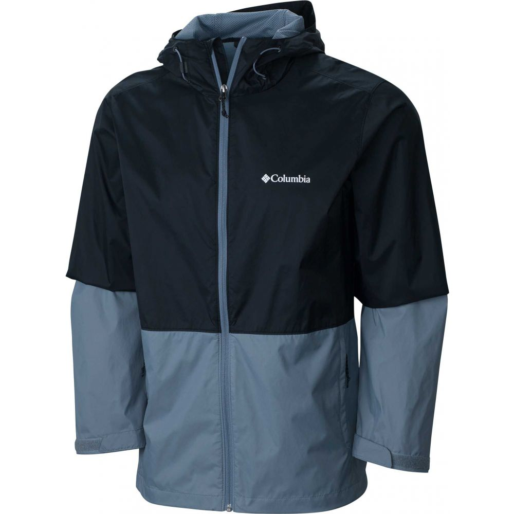 コロンビア Columbia メンズ レインコート アウター【Roan Mountain Rain Jacket】Black/Grey Ash
