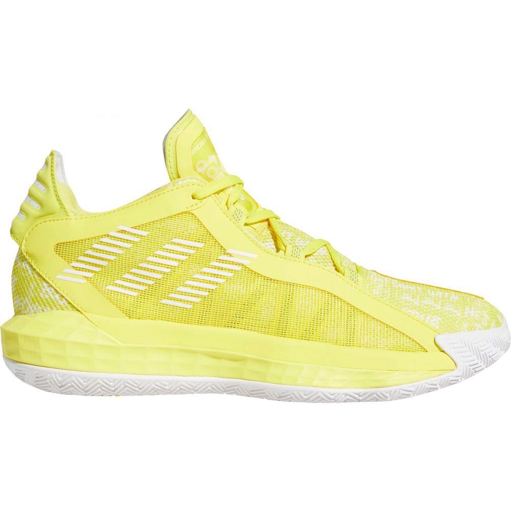 アディダス adidas メンズ バスケットボール シューズ・靴【Dame 6 Basketball Shoes】White/Blk/Yellow