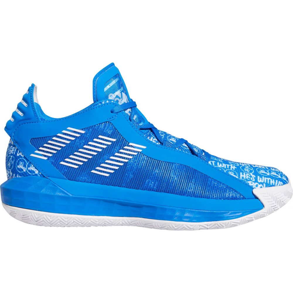 アディダス adidas メンズ バスケットボール シューズ・靴【Dame 6 Basketball Shoes】White/Blk/Blue