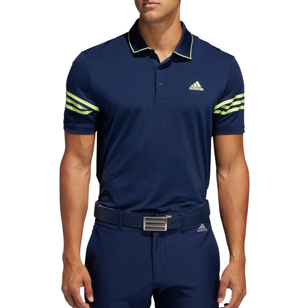 アディダス adidas メンズ ゴルフ トップス【Ultimate365 Blocked Golf Polo】Colleg Navy/Solar Yellow