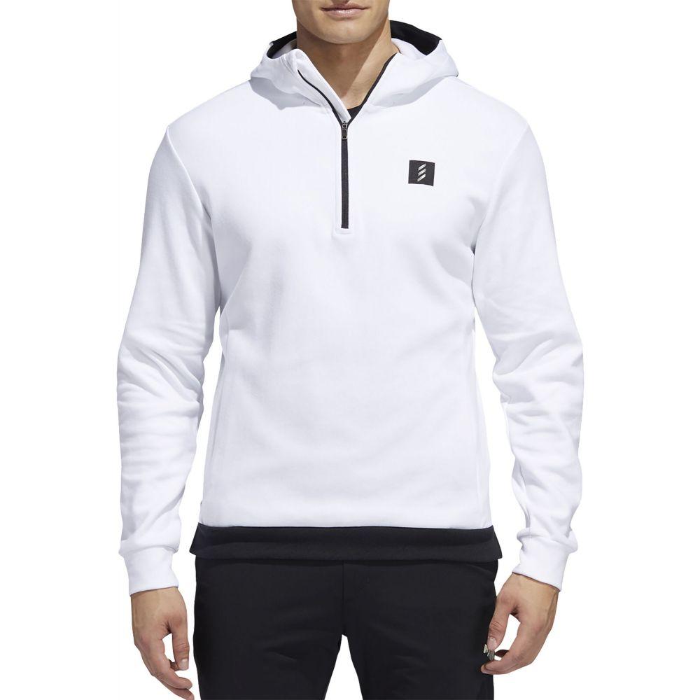 アディダス adidas Golf メンズ ゴルフ トップス【adidas AdiCROSS 1/2 Zip Golf Hoodie】White