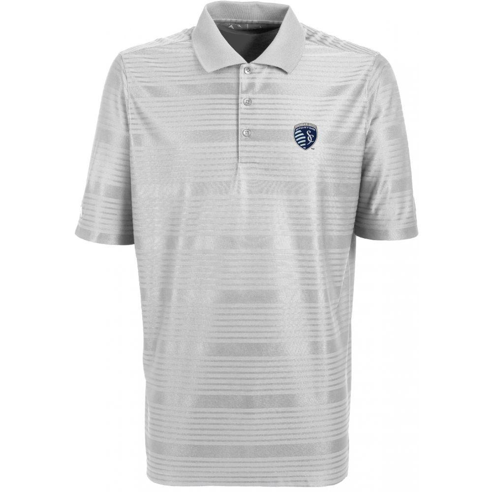 アンティグア Antigua メンズ ポロシャツ トップス【Sporting Kansas City Illusion White Performance Polo】