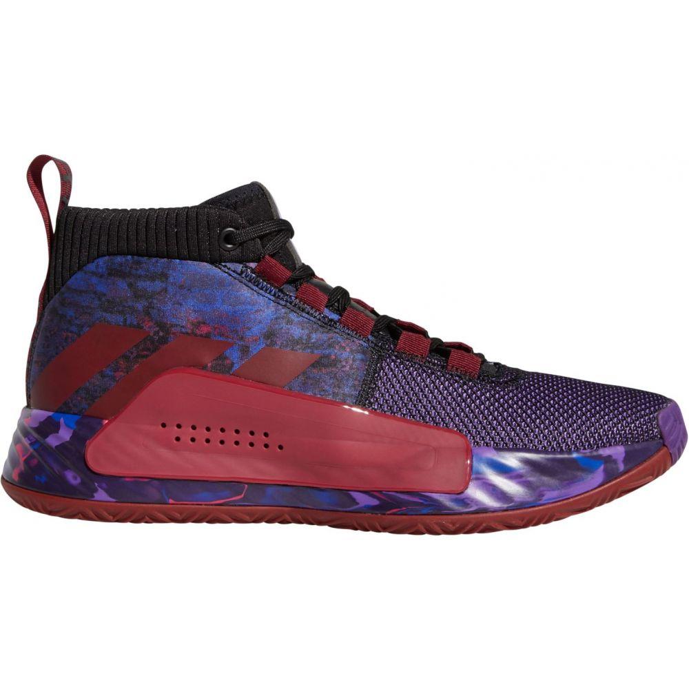 アディダス adidas メンズ バスケットボール シューズ・靴【Dame 5 Basketball Shoes】Black/Burgundy