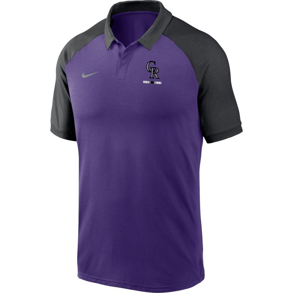 ナイキ Nike メンズ ポロシャツ トップス【Colorado Rockies Purple Dri-FIT Legacy Raglan Polo】