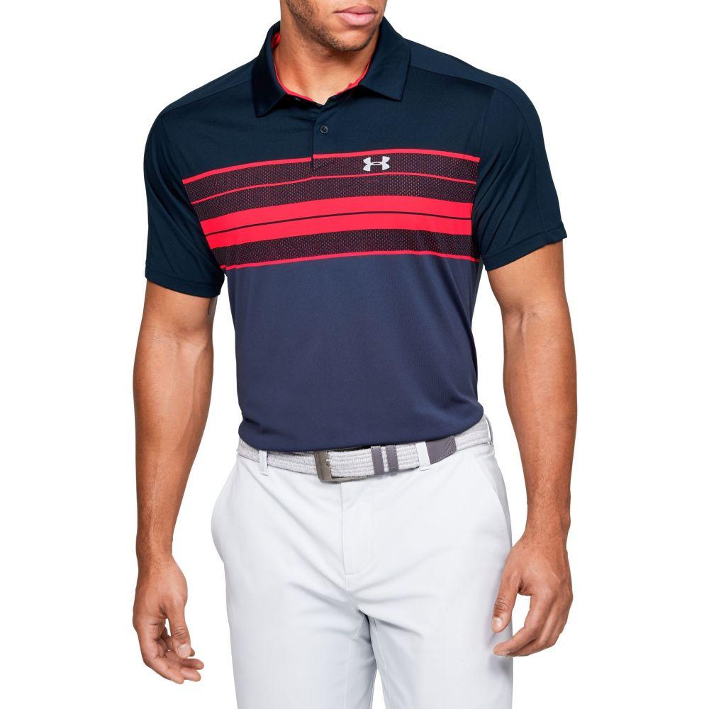 アンダーアーマー Under Armour メンズ ゴルフ トップス【Vanish Chest Stripe Golf Polo】Halo Gray