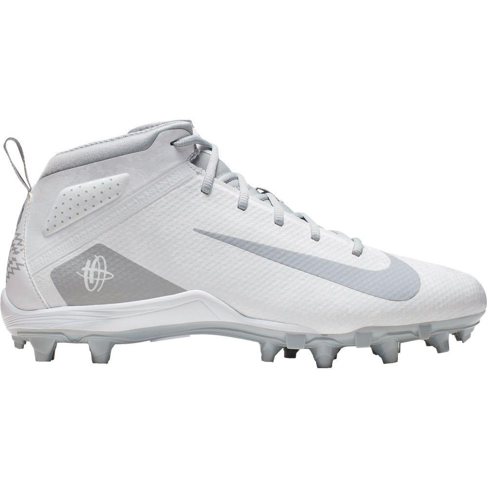 ナイキ Nike メンズ ラクロス シューズ・靴【Alpha Huarache 7 Varsity Mid Lacrosse Cleats】White/Grey