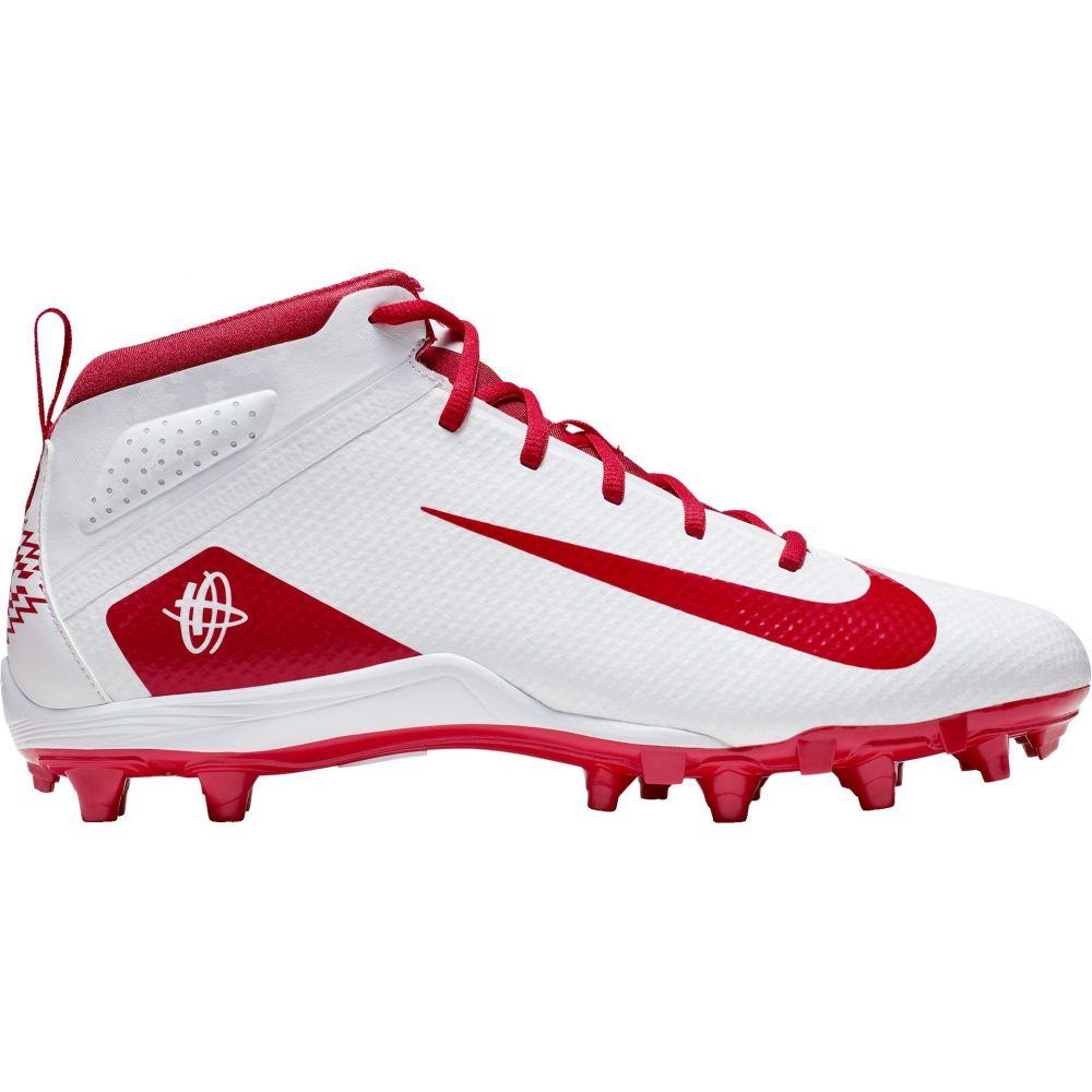 ナイキ Nike メンズ ラクロス シューズ・靴【Alpha Huarache 7 Varsity Mid Lacrosse Cleats】White/Red