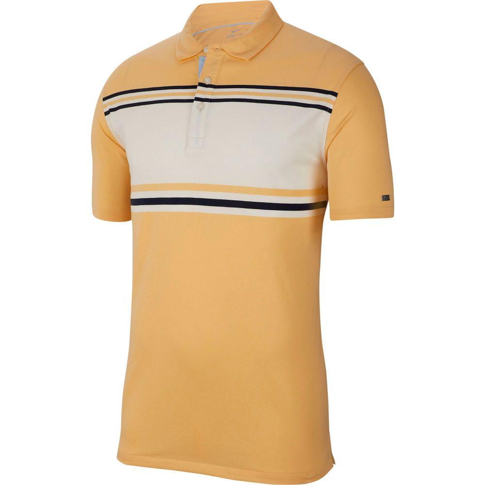 ナイキ Nike メンズ ゴルフ トップス【Dri-FIT Player Striped Golf Polo】Celestial Gold