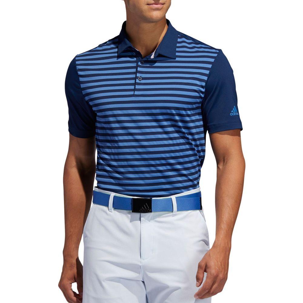 アディダス adidas Golf メンズ ゴルフ トップス【adidas Ultimate365 3-Color Stripe Golf Polo】Collegiate Nav/Trce Royal