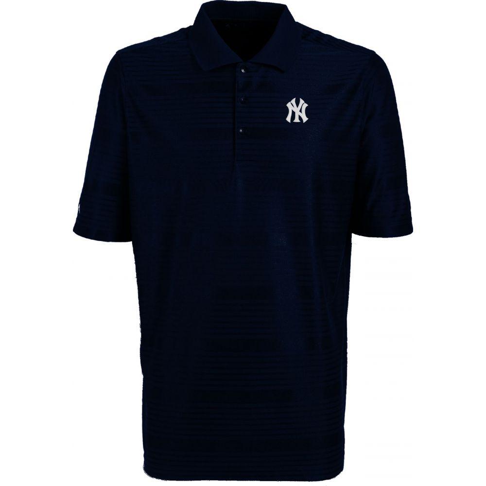 アンティグア Antigua メンズ ポロシャツ トップス【New York Yankees Illusion Navy Striped Performance Polo】