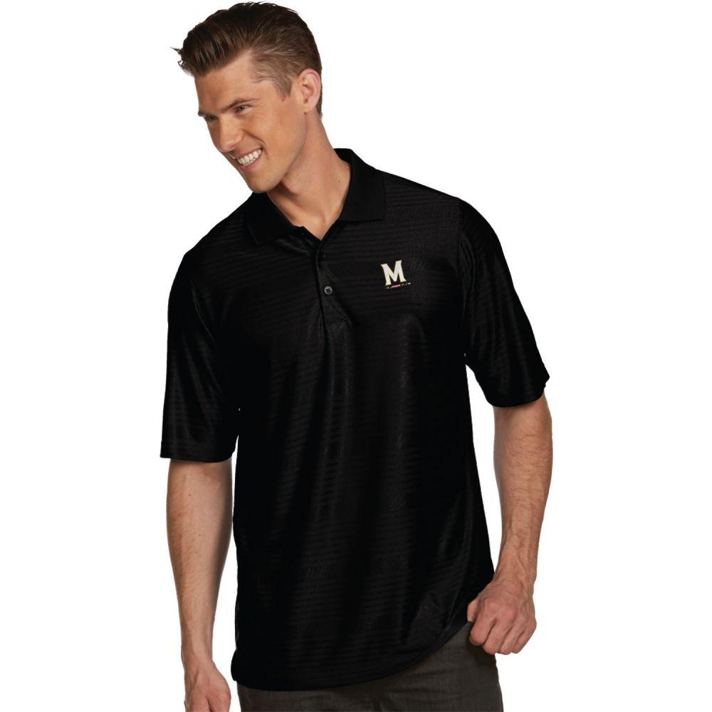 アンティグア Antigua メンズ ポロシャツ トップス【Maryland Terrapins Black Illusion Polo】
