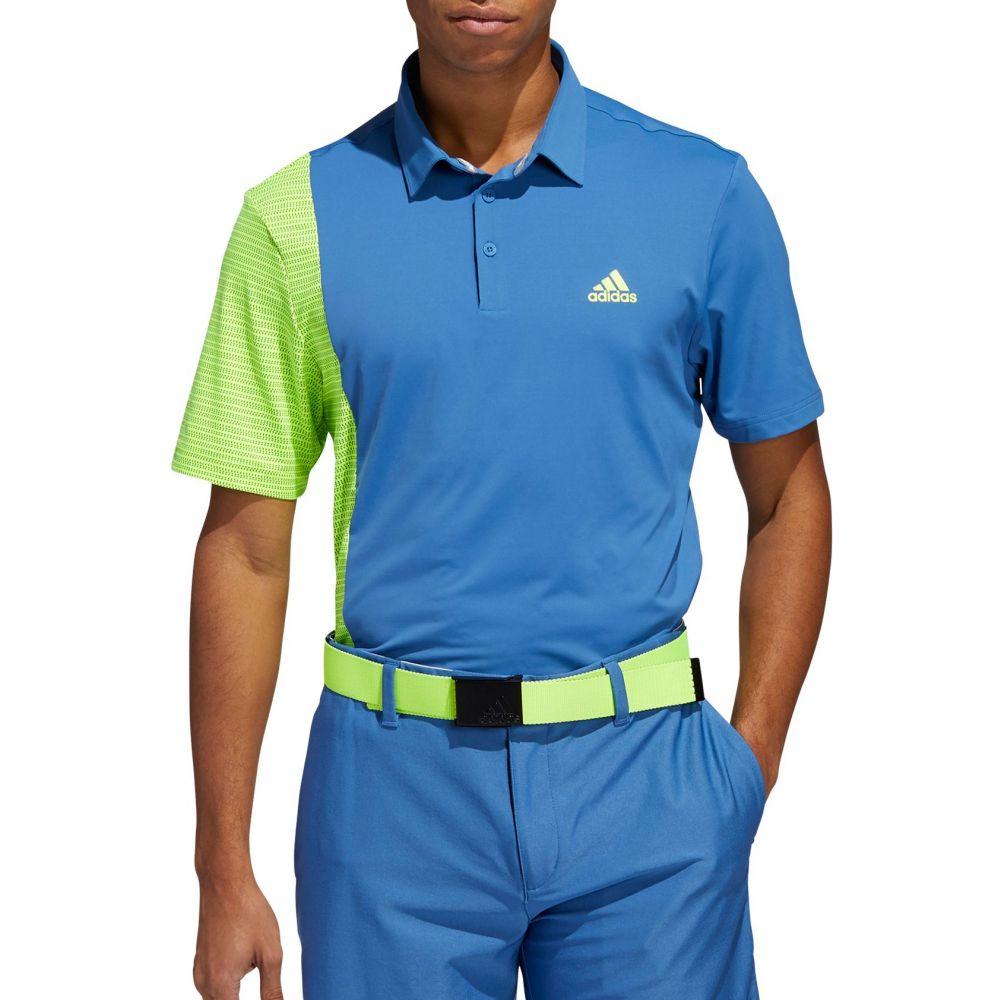アディダス adidas メンズ ゴルフ トップス【Adidas Ultimate365 Blocked Print Golf Polo】Trace Royal/Solar Yellow