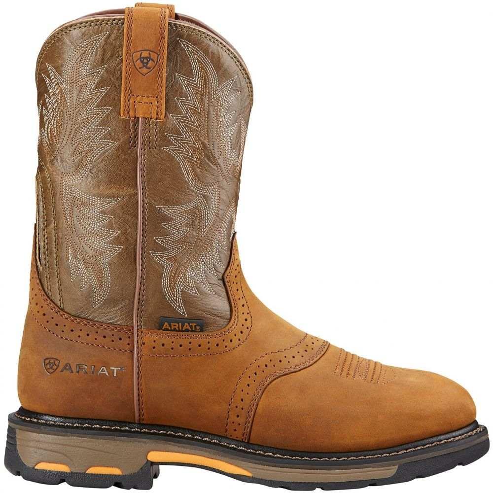 アリアト Ariat メンズ ブーツ シューズ・靴【WorkHog 10 Pull-On Western Boots】Aged Bark