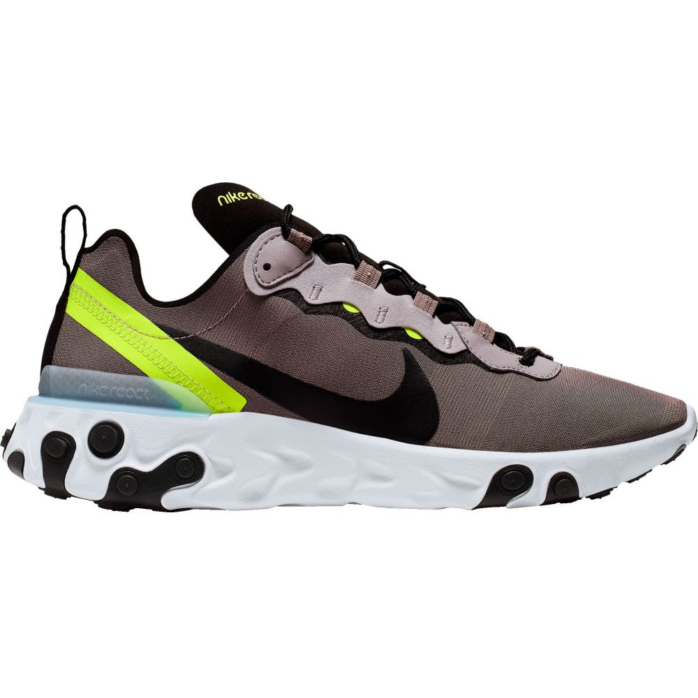 ナイキ Nike メンズ スニーカー シューズ・靴【React Element 55 Shoes】Pumice/Blk/Wht/Blue Chill