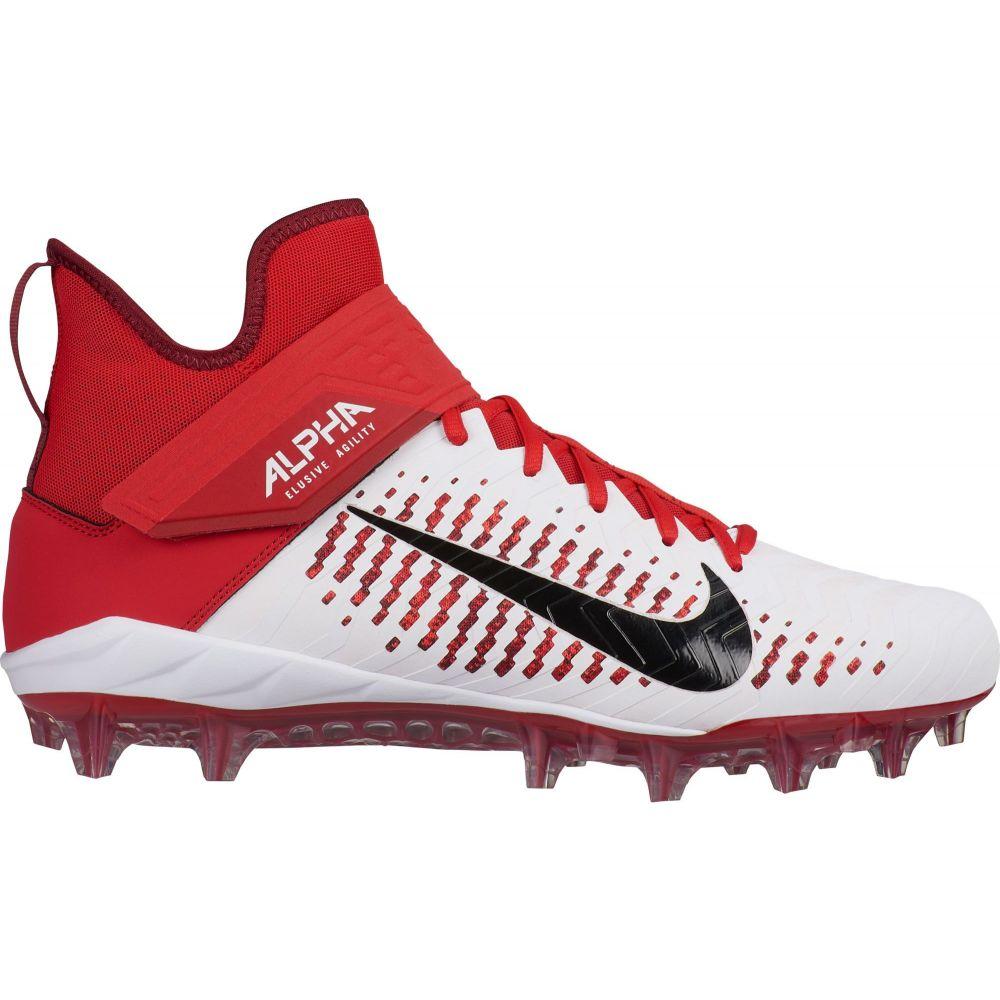 ナイキ Nike メンズ アメリカンフットボール シューズ・靴【Alpha Menace Pro 2 Mid Football Cleats】White/Red