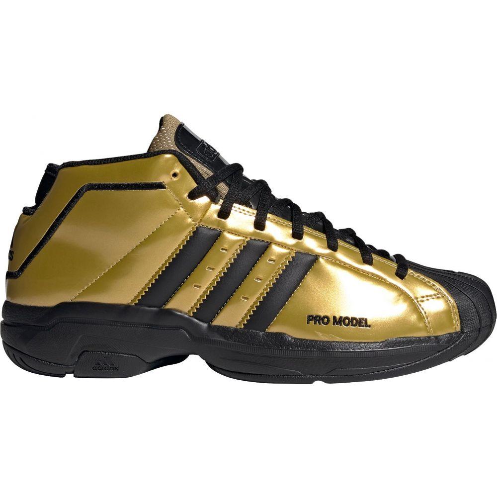 アディダス adidas メンズ バスケットボール シューズ・靴【Pro Model 2G Basketball Shoes】Gold/Black