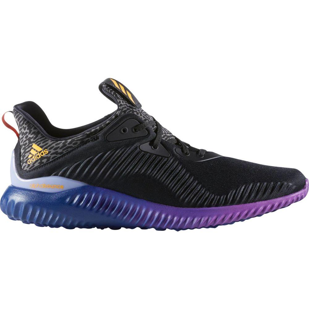 アディダス adidas メンズ ランニング・ウォーキング シューズ・靴【Alphabounce Running Shoes】Black/Purple/Gold