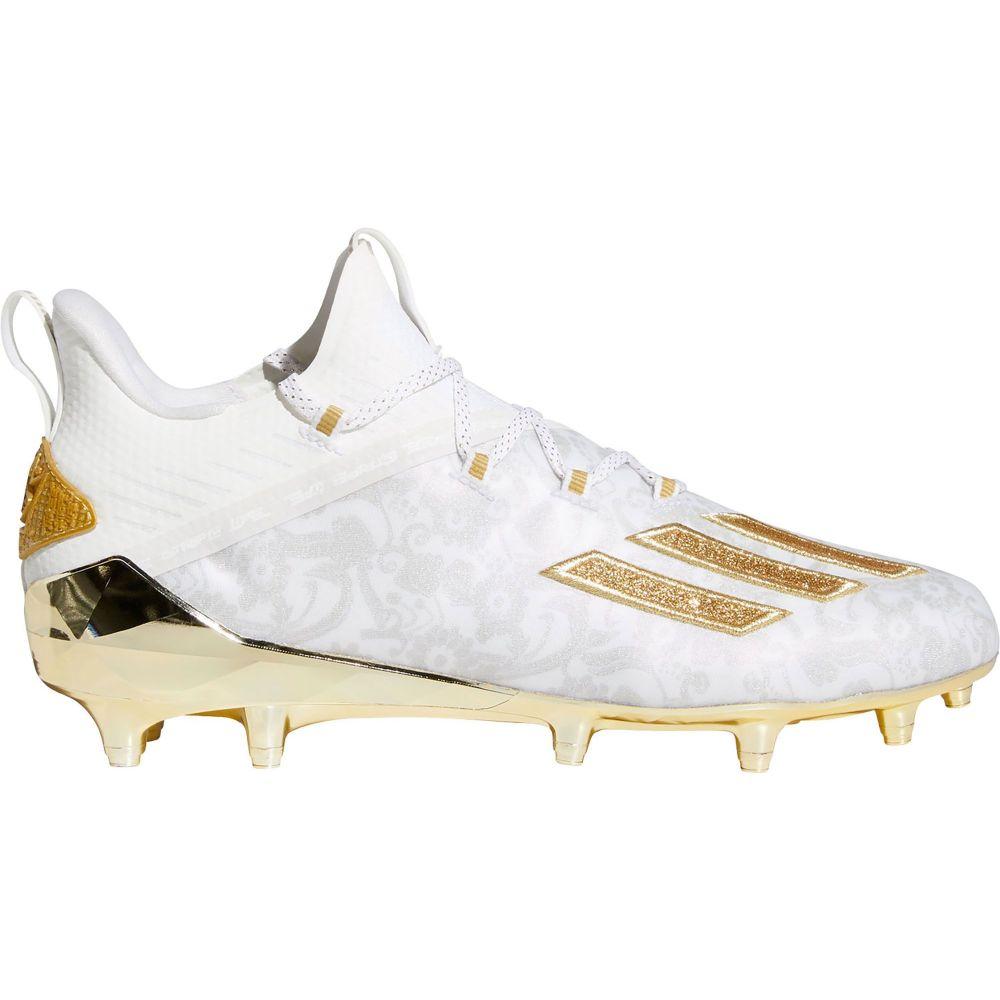 アディダス adidas メンズ アメリカンフットボール シューズ・靴【adizero New Reign Football Cleats】White/Gold