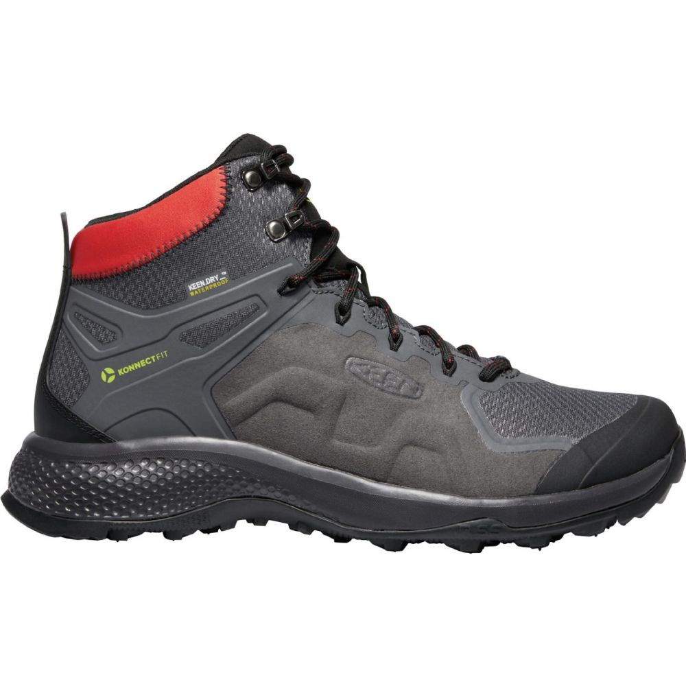 キーン Keen メンズ ハイキング・登山 シューズ・靴【KEEN Explore Mid Waterproof Hiking Boots】Magnet/Fiery Red