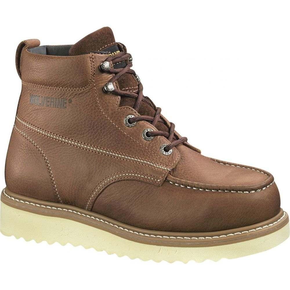 ウルヴァリン Wolverine メンズ ブーツ シューズ・靴【Moc-Toe Wedge 6 Steel Toe Work Boots】Brown