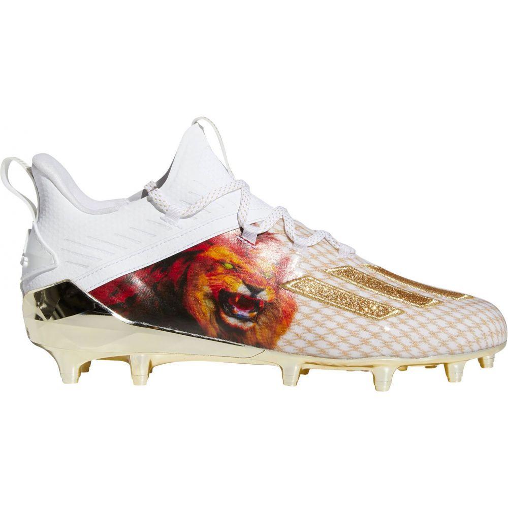 アディダス adidas メンズ アメリカンフットボール シューズ・靴【adizero X Anniversary 2.0 Lion Football Cleats】White/Gold