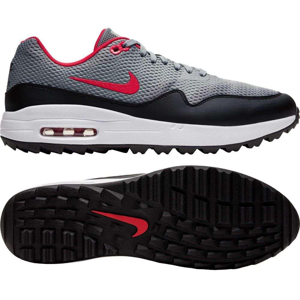 ナイキ Nike メンズ ゴルフ シューズ・靴【2020 Air Max 1 G Golf Shoes】Grey/University Red/White