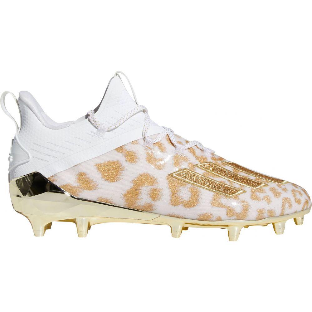アディダス adidas メンズ アメリカンフットボール シューズ・靴【adizero X Anniversary Uncaged 2.0 Cheetah Football Cleats】White/Gold