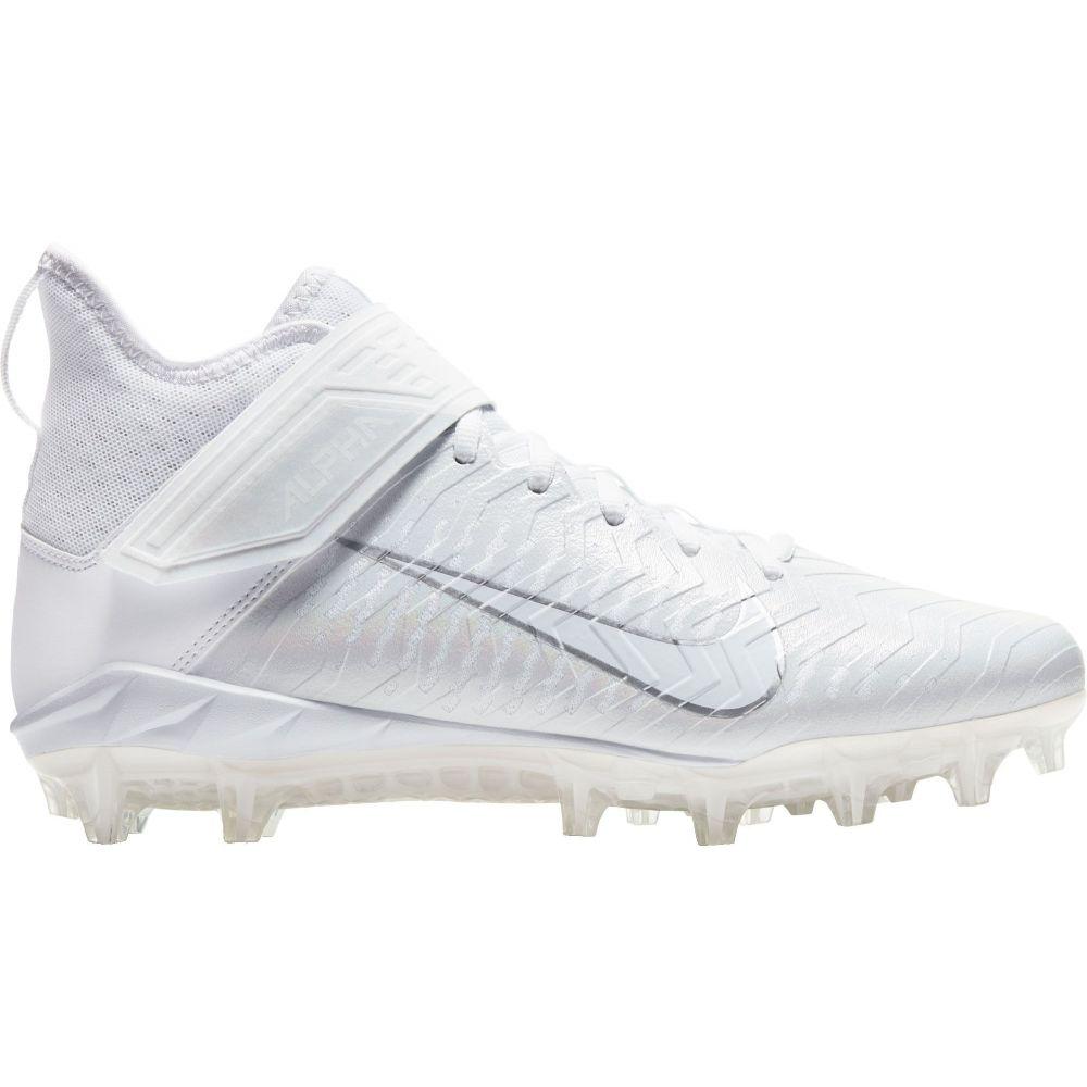 ナイキ Nike メンズ アメリカンフットボール シューズ・靴【Alpha Menace Pro 2 Mid Football Cleats】White/Chrome