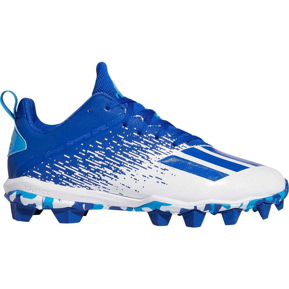 アディダス adidas メンズ アメリカンフットボール シューズ・靴【adizero Spark MD Football Cleats】White/Royal