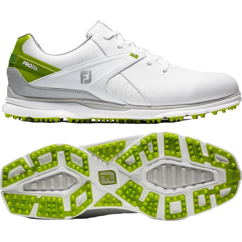 フットジョイ FootJoy メンズ ゴルフ シューズ・靴【2020 Pro/SL Golf Shoes】White/Lime