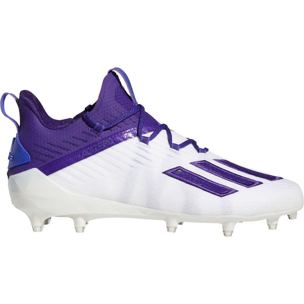 アディダス adidas メンズ アメリカンフットボール シューズ・靴【adizero Football Cleats】White/Purple