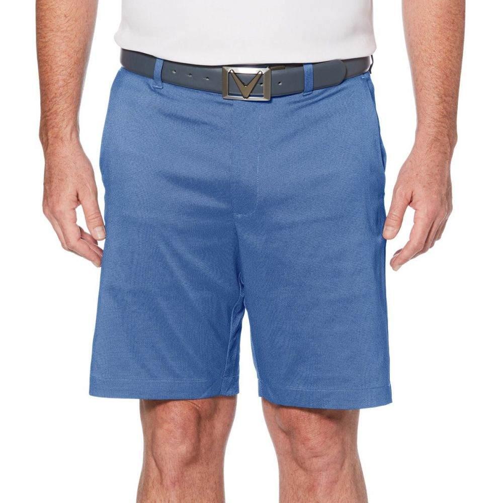 キャロウェイ Callaway メンズ ゴルフ ボトムス・パンツ【Oxford Plaid Golf Shorts】Peacoat