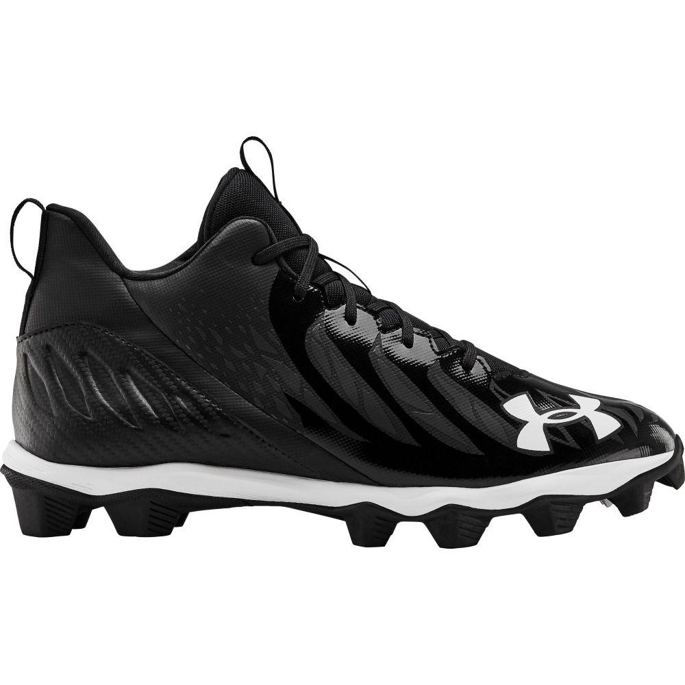 アンダーアーマー Under Armour メンズ アメリカンフットボール シューズ・靴【Spotlight Franchise Mid RM Football Cleats】Black/White