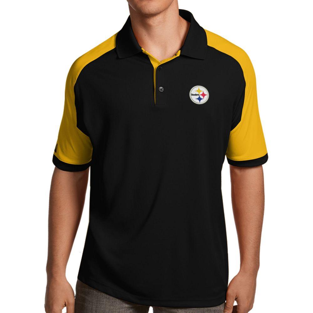 アンティグア Antigua メンズ ポロシャツ トップス【Pittsburgh Steelers Century Black Polo】