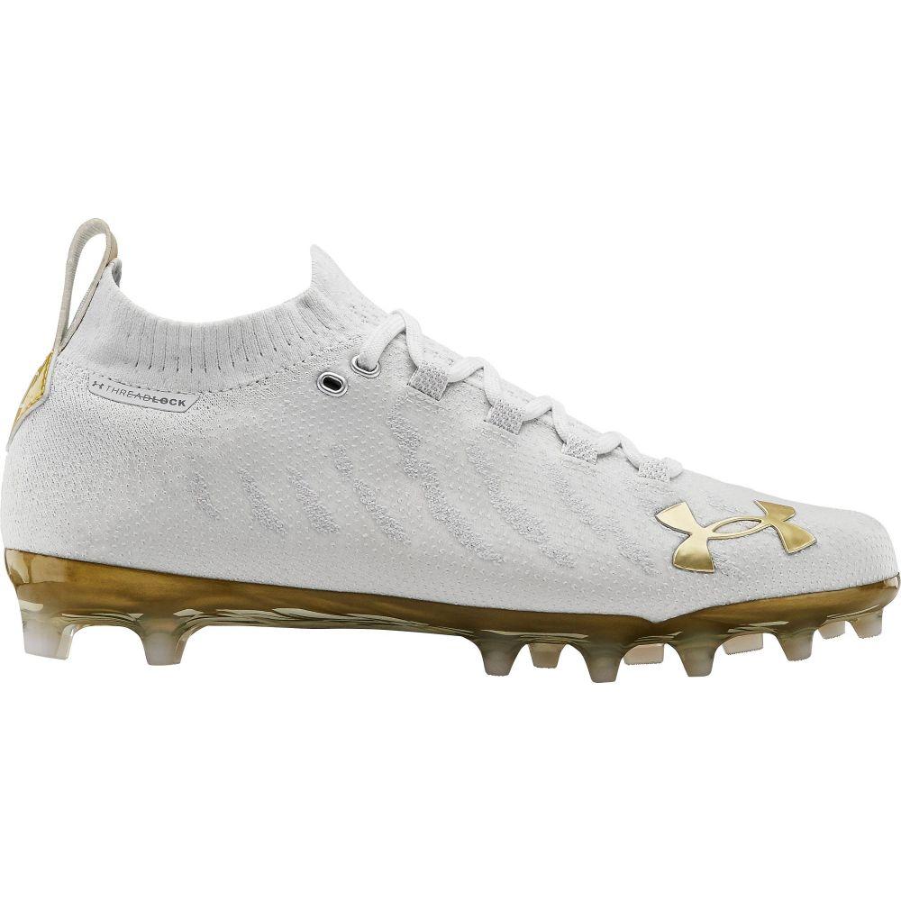 アンダーアーマー Under Armour メンズ アメリカンフットボール シューズ・靴【Spotlight Lux MC Football Cleats】White/Gold