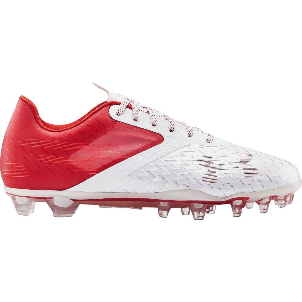 アンダーアーマー Under Armour メンズ アメリカンフットボール シューズ・靴【Blur Lux MC Football Cleats】Red/White