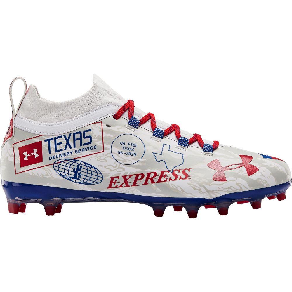 アンダーアーマー Under Armour メンズ アメリカンフットボール シューズ・靴【Blur LE Texas MC Football Cleats】White/Royal