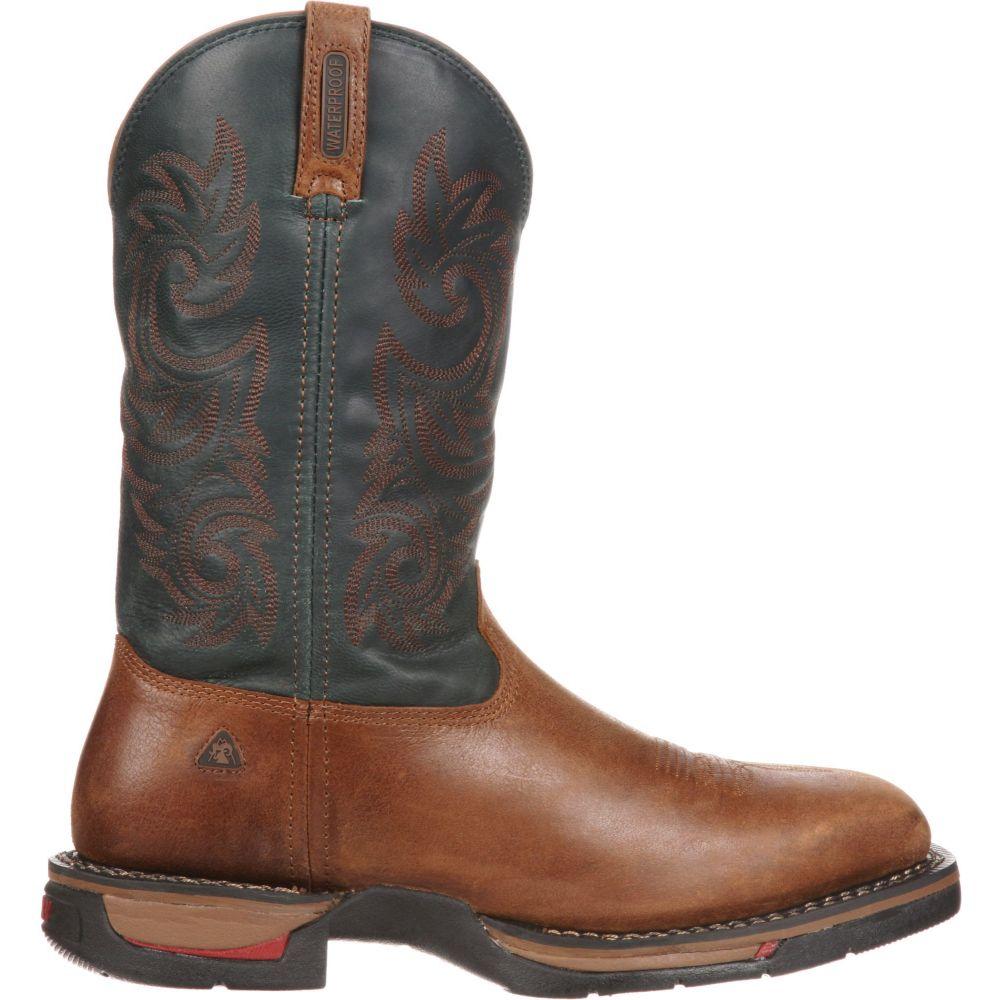 ロッキー Rocky メンズ ブーツ シューズ・靴【Long Range 12 Waterproof Western Work Boots】Saddle Brown/Navy