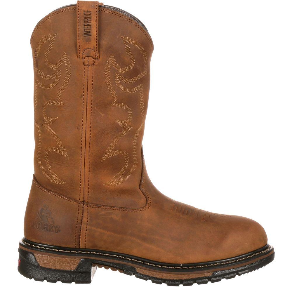 ロッキー Rocky メンズ ブーツ シューズ・靴【Original Ride Branson Roper 11 Waterproof Western Work Boots】Aztec Crazy Horse