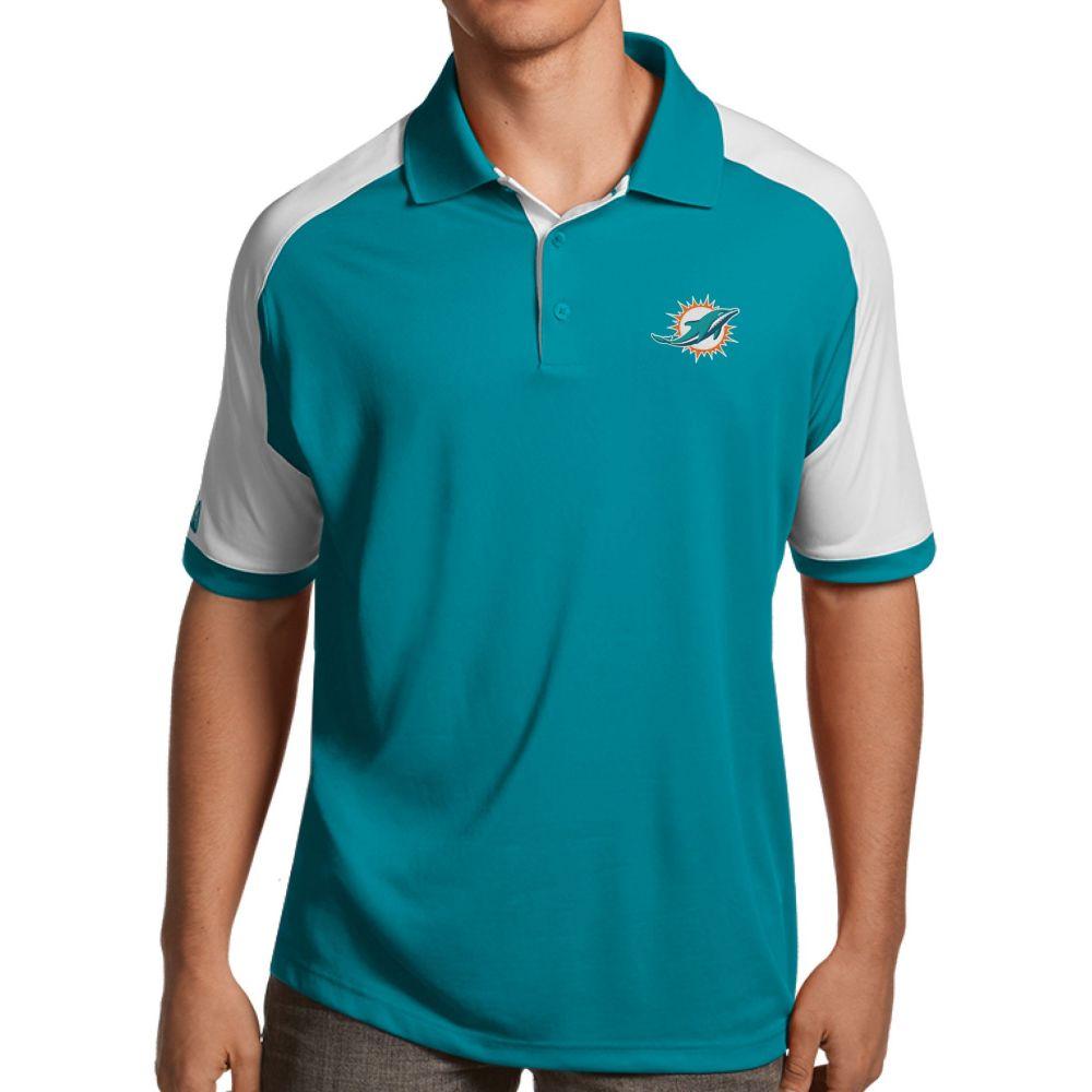 アンティグア Antigua メンズ ポロシャツ トップス【Miami Dolphins Century Aqua Polo】