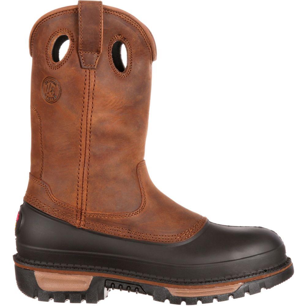 ジョージアブーツ Georgia Boots メンズ ブーツ シューズ・靴【Georgia Boot Muddog 11 Wellington Waterproof Steel Toe Work Boots】Brown