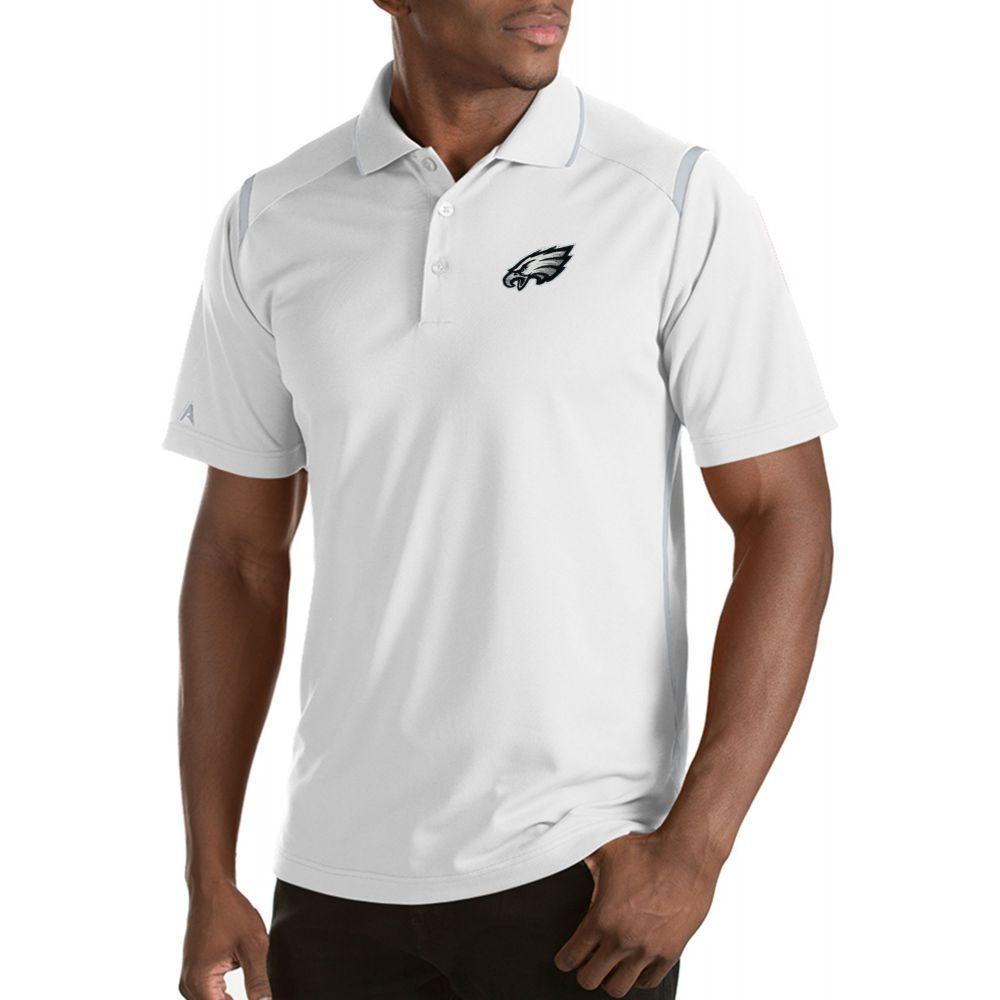 アンティグア Antigua メンズ ポロシャツ トップス【Philadelphia Eagles Merit White Xtra-Lite Polo】