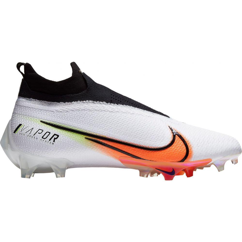 ナイキ Nike メンズ アメリカンフットボール シューズ・靴【Vapor Edge Elite 360 PRM Football Cleats】White/Orange