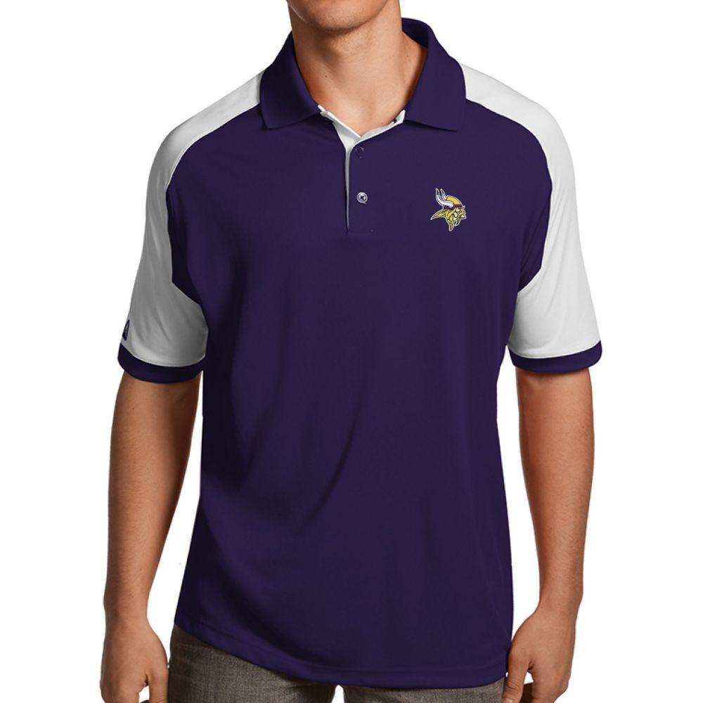 アンティグア Antigua メンズ ポロシャツ トップス【Minnesota Vikings Century Purple Polo】