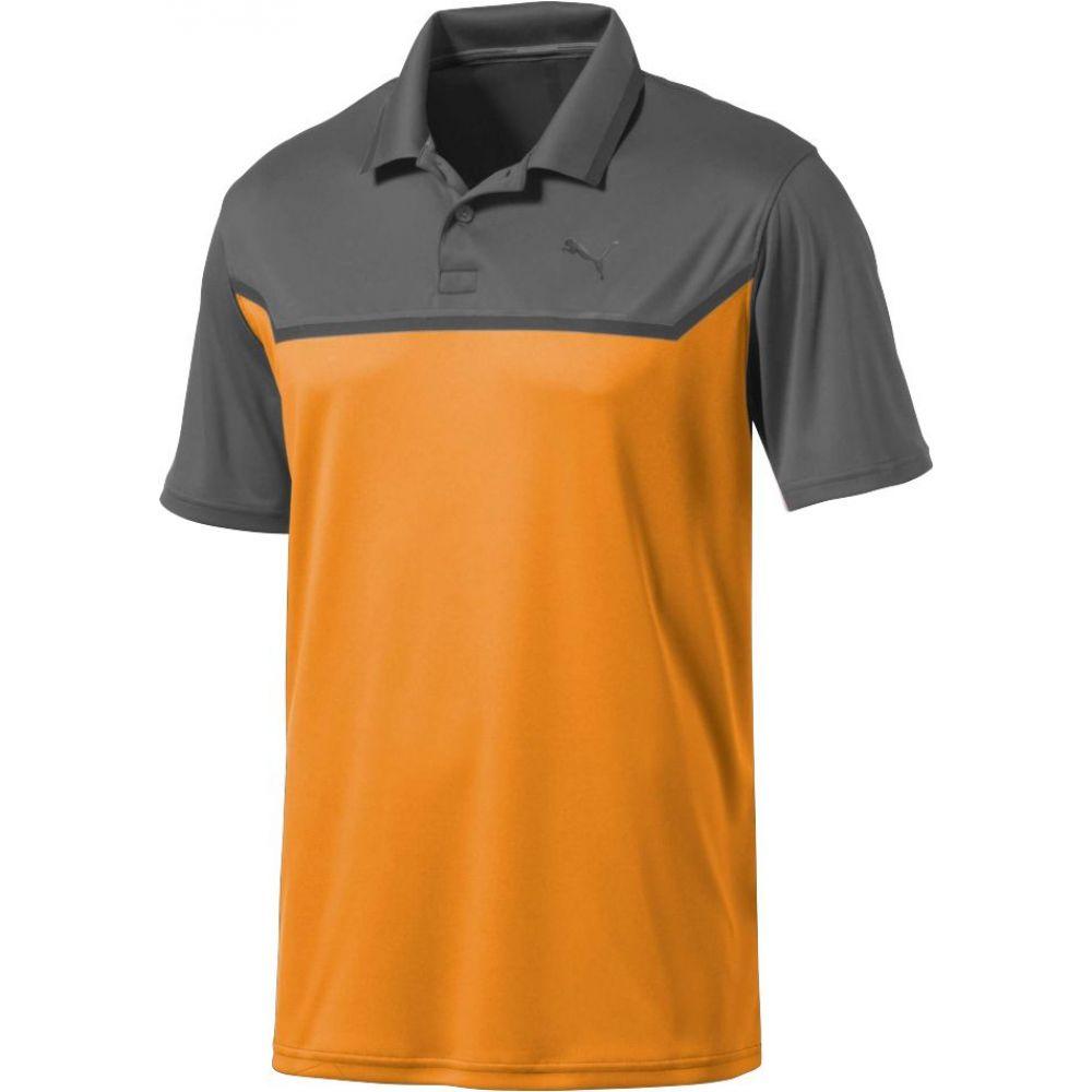 プーマ PUMA メンズ ゴルフ トップス【Bonded Tech Golf Polo】Quiet Shade/Vibrant Ornge