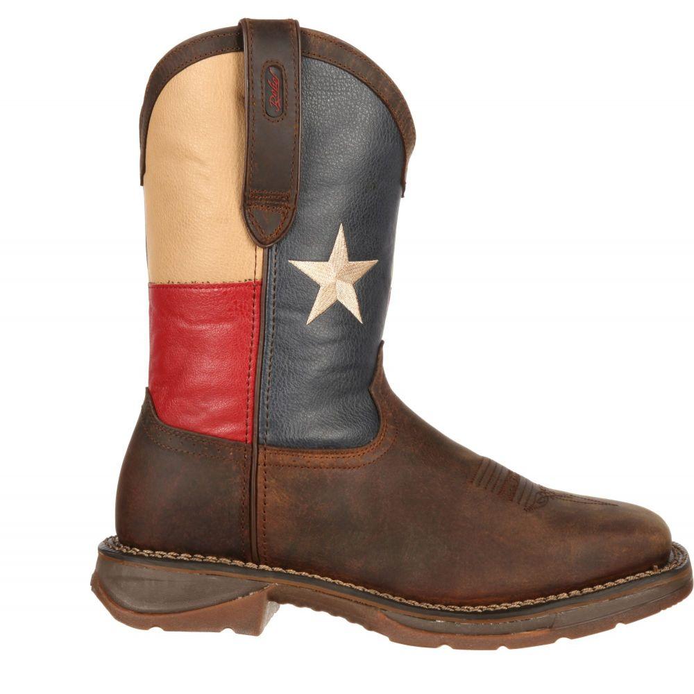 デュランゴ Durango メンズ ブーツ シューズ・靴【Rebel Texas Flag 11 Waterproof Steel Toe Western Work Boots】Dark Brown/Texas Flag